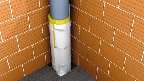 Система звукоізоляції труб і вентиляції BJ1